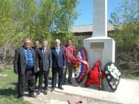 возложение венков к памятнику в с. Алексеевка